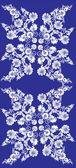 Blauwe en witte bloem stripe decoratie — Stockvector