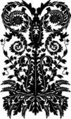 Black on white design band — Stock Vector