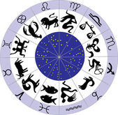 Twelve zodiac symbols — Stock Vector