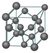 Diamond crystal structure illustration — Vettoriale Stock
