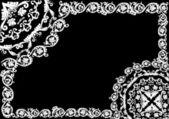 Curled white rectangular frame — Stock Vector