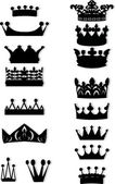 Sixteen crown collection — Stock Vector