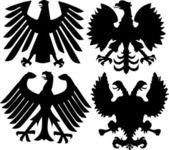 Heraldic eagles collection — Stock Vector