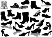 Footwear set — Stock Vector