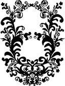 Black simple symmetric decoration — Stock Vector