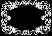 White gorizontal floral frame — Stock Vector