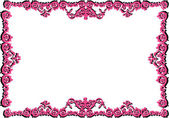 Pink frame with shadow — Stock Vector