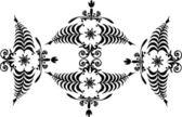 Simple black horizontal stripe — Stock Vector