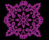 Pink symmetrical simple design — Stock Vector