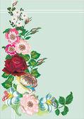 Bunch of flowers — Stock Vector
