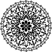 Circle simple black pattern — Stock Vector