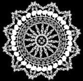 Flower white round design — Stock Vector