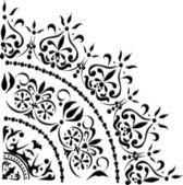 серый и черный угол украшения — Cтоковый вектор