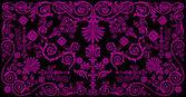 Purple traditional design — Stock Vector