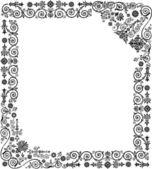 černý rám vzor na bílém pozadí — Stock vektor