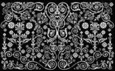 Padrão decorado de branco e preto — Vetorial Stock