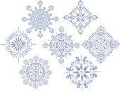 Blå stjärnan dekoration samling — Stockvektor