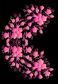 Half circle pink flower pattern — Stockvektor