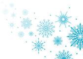 Ilustración de los copos de nieve azul — Vector de stock