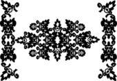 Symetrický černé horizontální vzor — Stock vektor