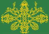 Golden design on green — Stock Vector
