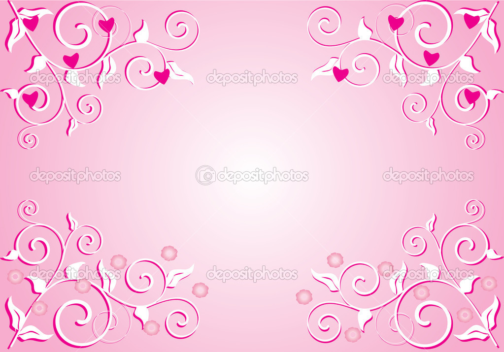 Simple pink background with branches — Stock Vector © Dr.PAS #6327619