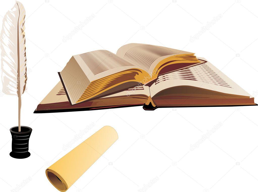 Скачать картинки книги с пером