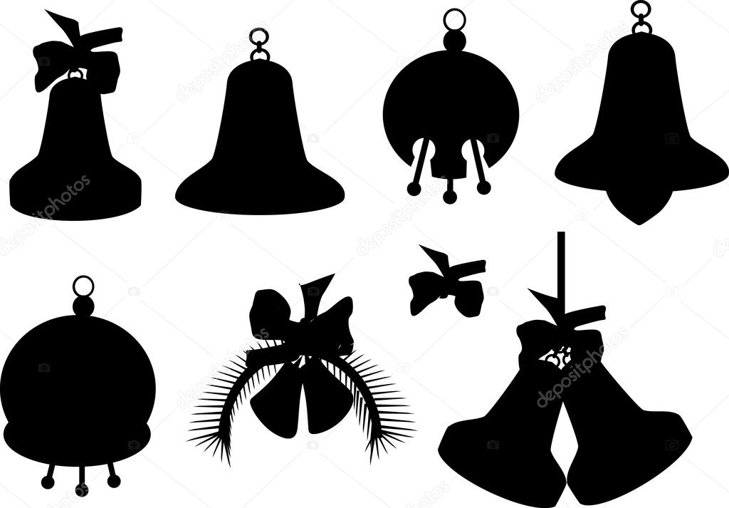 The gallery for gt jingle bell silhouette