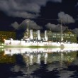 Heavy cruiser Aurora — Stock Photo