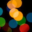 Stock Photo: Circles with color blur
