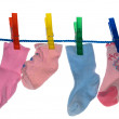 Royalty-Free Stock Photo: Clothes-pegs and socks