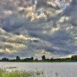 Cloudscape above river — Stock Photo #6415059