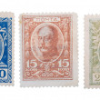 Old Russian postage stamps with emperors — Stock Photo #6415249