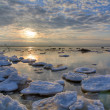 Ice-floes in winter sea — Foto Stock