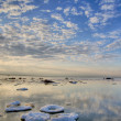 Clouds above winter sea — Stockfoto