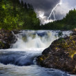 Waterfall with lightning — Stock Photo #6415454