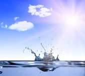 Vatten kronan under solen — Stockfoto
