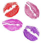 Four lips imprints — Stock Photo