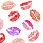 Lips imprints background — Stock Photo