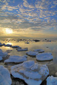 Ice on sea seaboard — Stock Photo