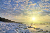 Ice under bright sun — Stockfoto