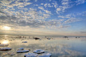 Clouds above winter sea — Stock Photo