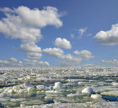 Ice under clouds — Stock Photo