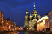 Twilight in saint-petersburg city — Stock Photo