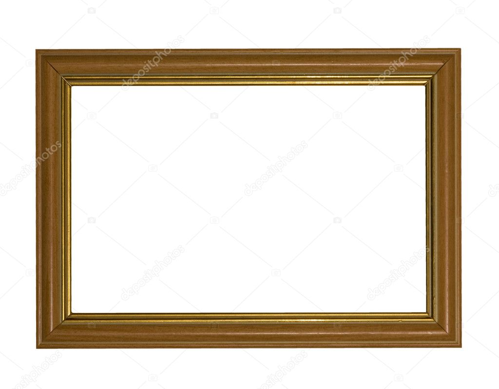 White Wood Frame : Wood frame on white — Stock Photo © Dr.PAS #6414972