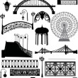Set of urban street elements - Stock Vector