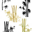 Bamboo collection on white — Stock Vector #6415788