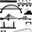 Set of bridge silhouettes — Stock Vector #6415921