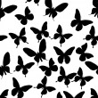 Background with black butterflies — Stock Vector #6415963