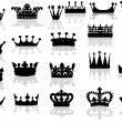 Twenty on crowns with reflections — Stock Vector